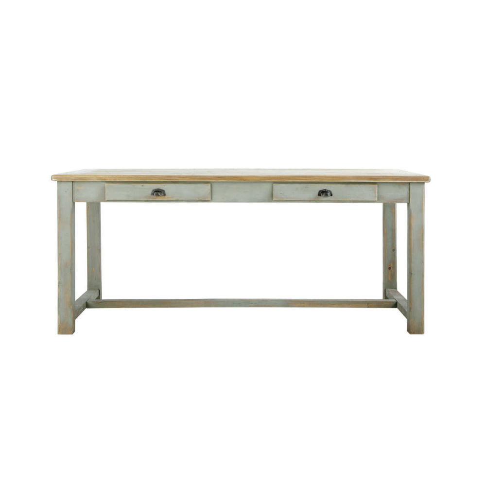 table de salle manger en bois grise l 180 cm sarlat. Black Bedroom Furniture Sets. Home Design Ideas