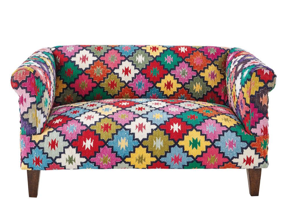 2 3 seater woven Kilim sofa multicoloured Arlequin