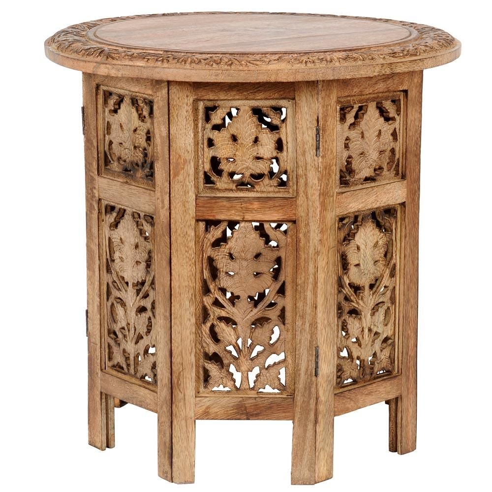 Table bout de canap bois naturel - Table en bois naturel ...