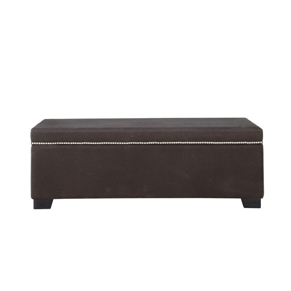 Bout de lit coffre gris anthracite maxence maisons du monde - Meuble bout de lit ...
