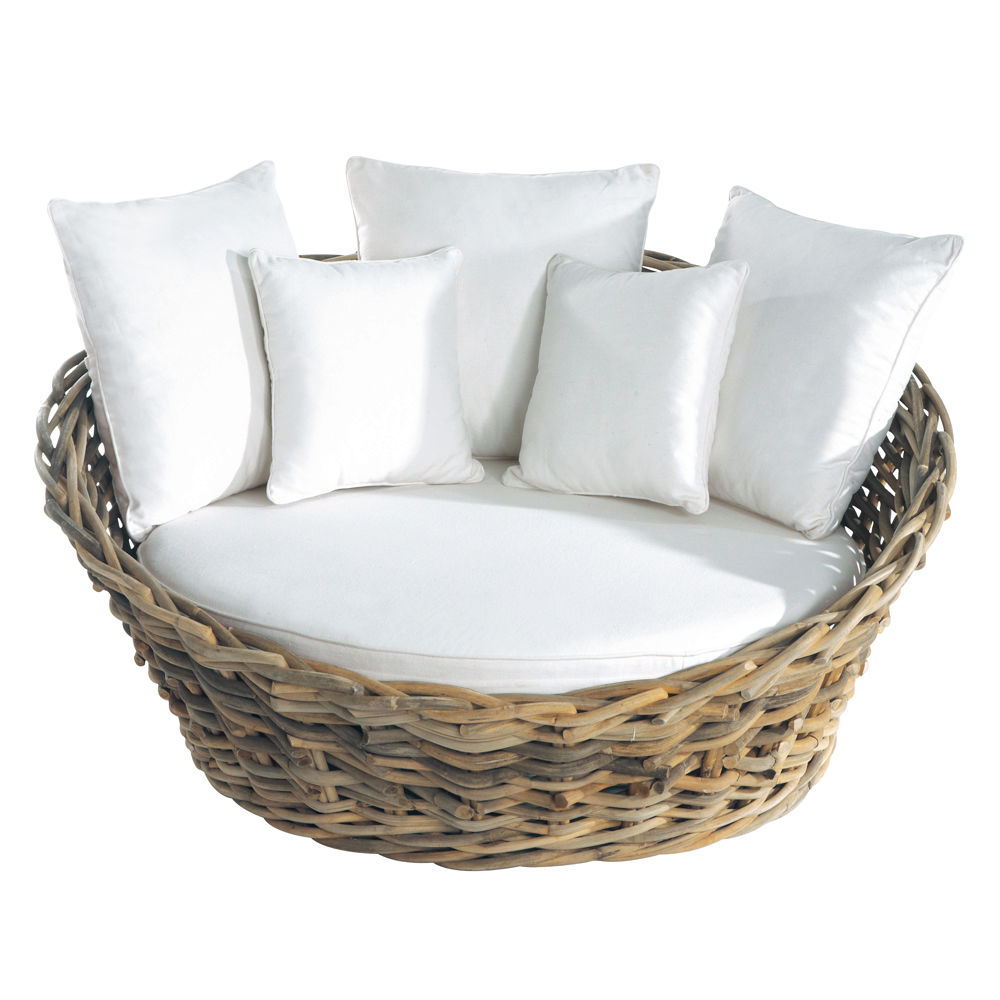 canap de jardin 1 2 places en rotin st tropez maisons du monde. Black Bedroom Furniture Sets. Home Design Ideas