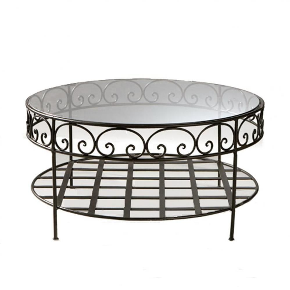 Table basse ronde style oriental - Table basse style indonesien ...