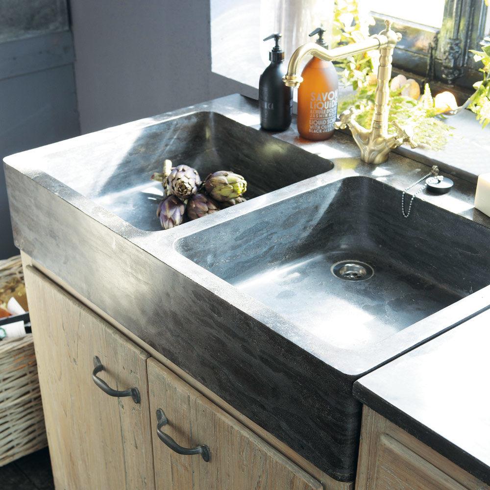 Evier cuisine avec meuble mitigeur evier cuisine design for Meuble evier lave vaisselle ikea