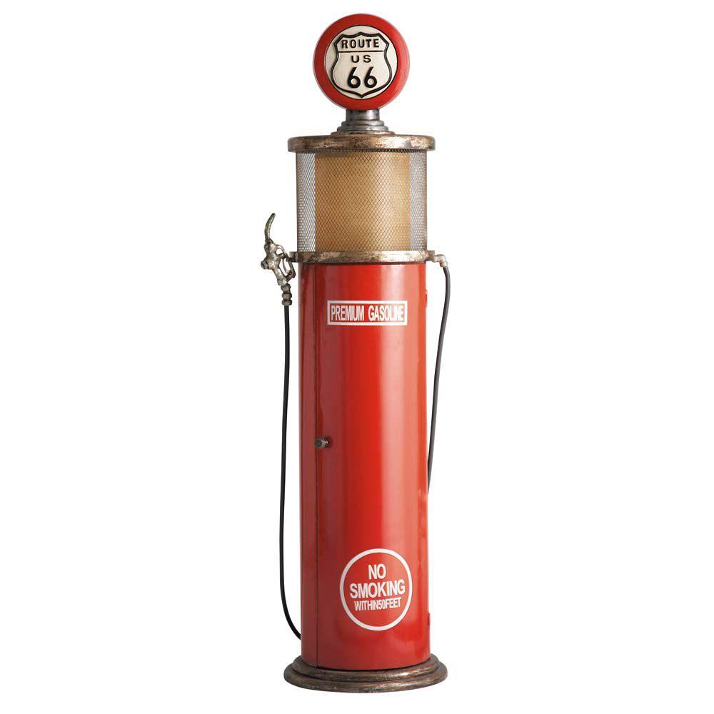 Lampe range CD en métal rouge H 152 cm | Maisons du Monde