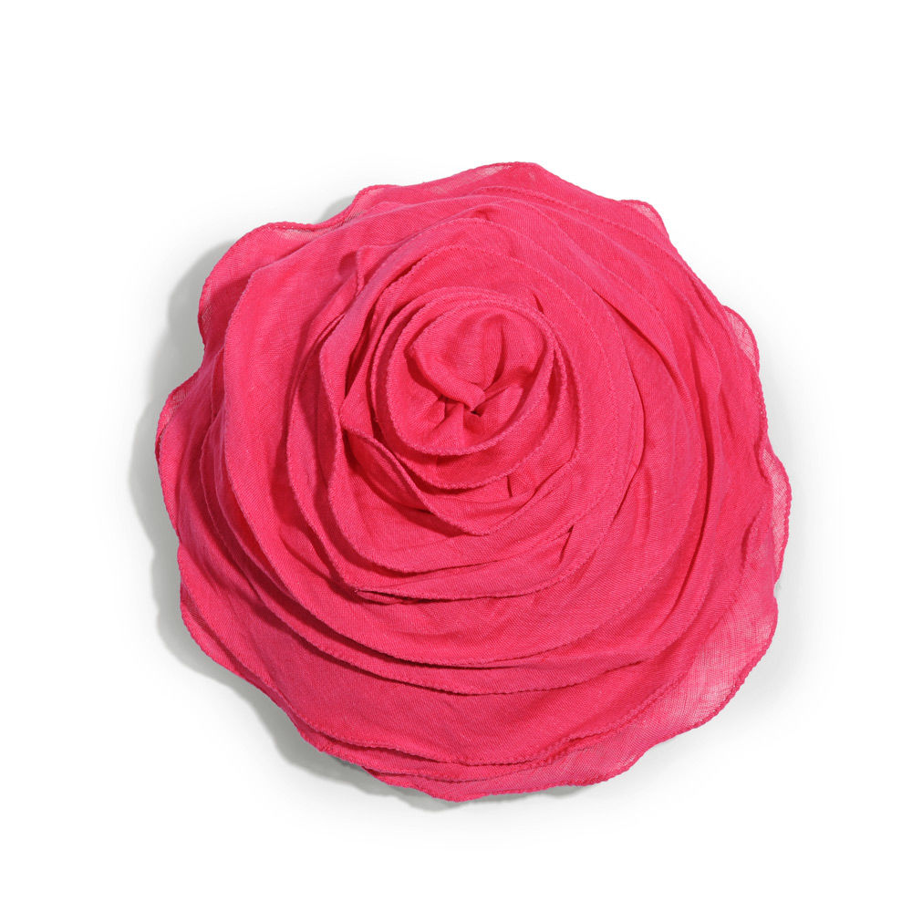 Coussin rond en lin rose fuschia d 30 cm maisons du monde - Maison du monde housse de coussin ...