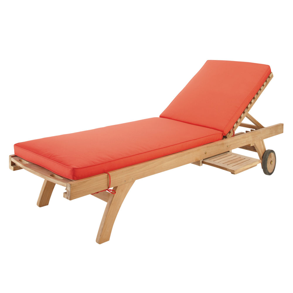 Matelas bain de soleil rouge sunny maisons du monde for Housse bain de soleil