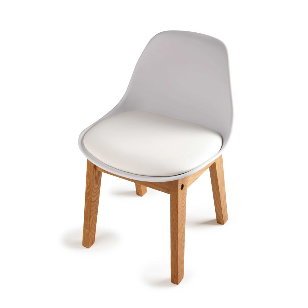 Scandinavian Style Children s Chair in White Ice