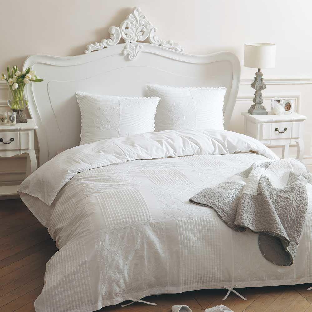 parure housse de couette dentelle 220x240 maisons du monde. Black Bedroom Furniture Sets. Home Design Ideas