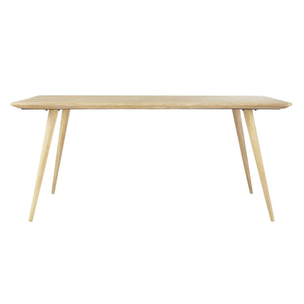 Table rectangulaire vintage trocad ro maisons du monde - Maison du monde table beton ...