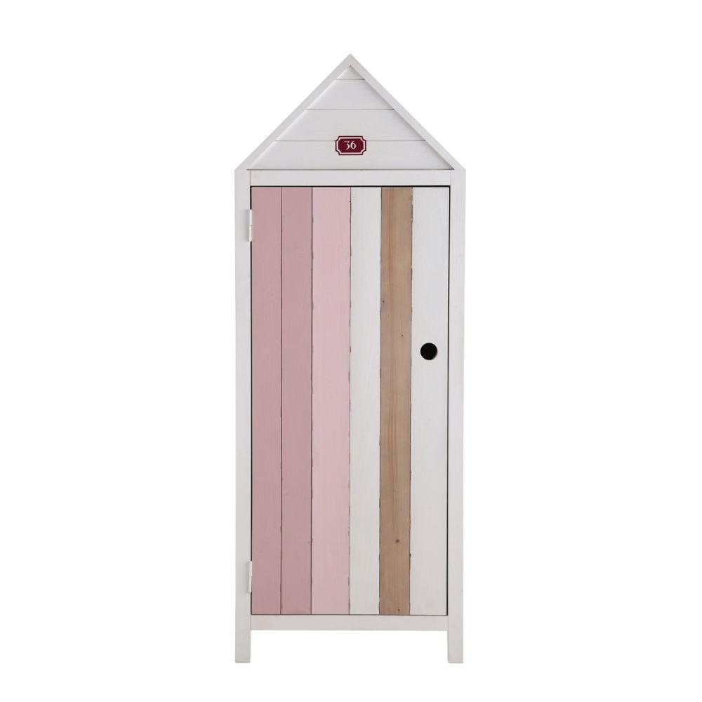 Armoire enfant cabine de plage violette maisons du monde - Meuble cabine de plage ...