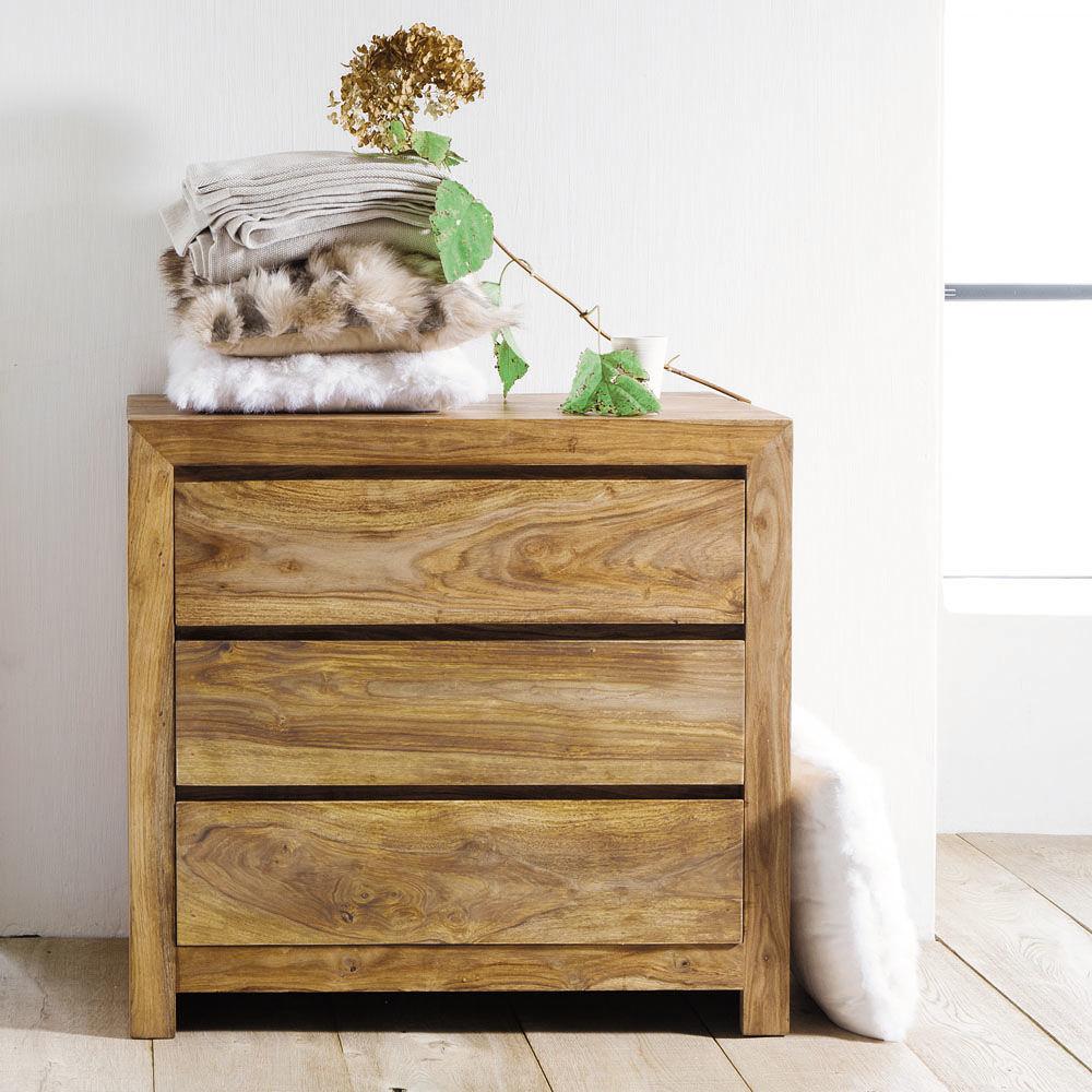 commode en bois de sheesham massif l 85 cm stockholm maisons du monde. Black Bedroom Furniture Sets. Home Design Ideas
