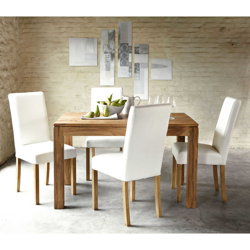 Table de salle manger en bois de sheesham massif l 140 - Table danube maison du monde ...