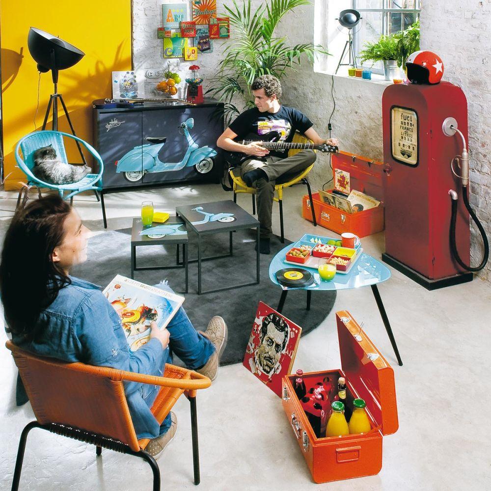 tapis rond soft anthracite 200 cm diam tre maisons du monde. Black Bedroom Furniture Sets. Home Design Ideas