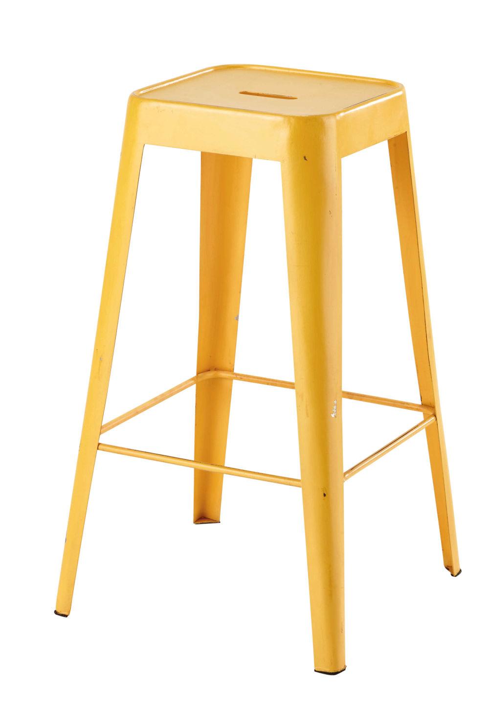 cheap tabouret de bar en mtal jaune with tabouret bar maison du monde. Black Bedroom Furniture Sets. Home Design Ideas