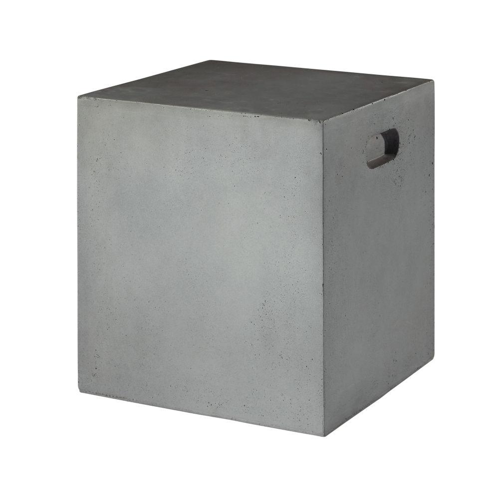 sc 1 st  Maisons du Monde & ALMADA concrete look resin garden stool in grey | Maisons du Monde islam-shia.org