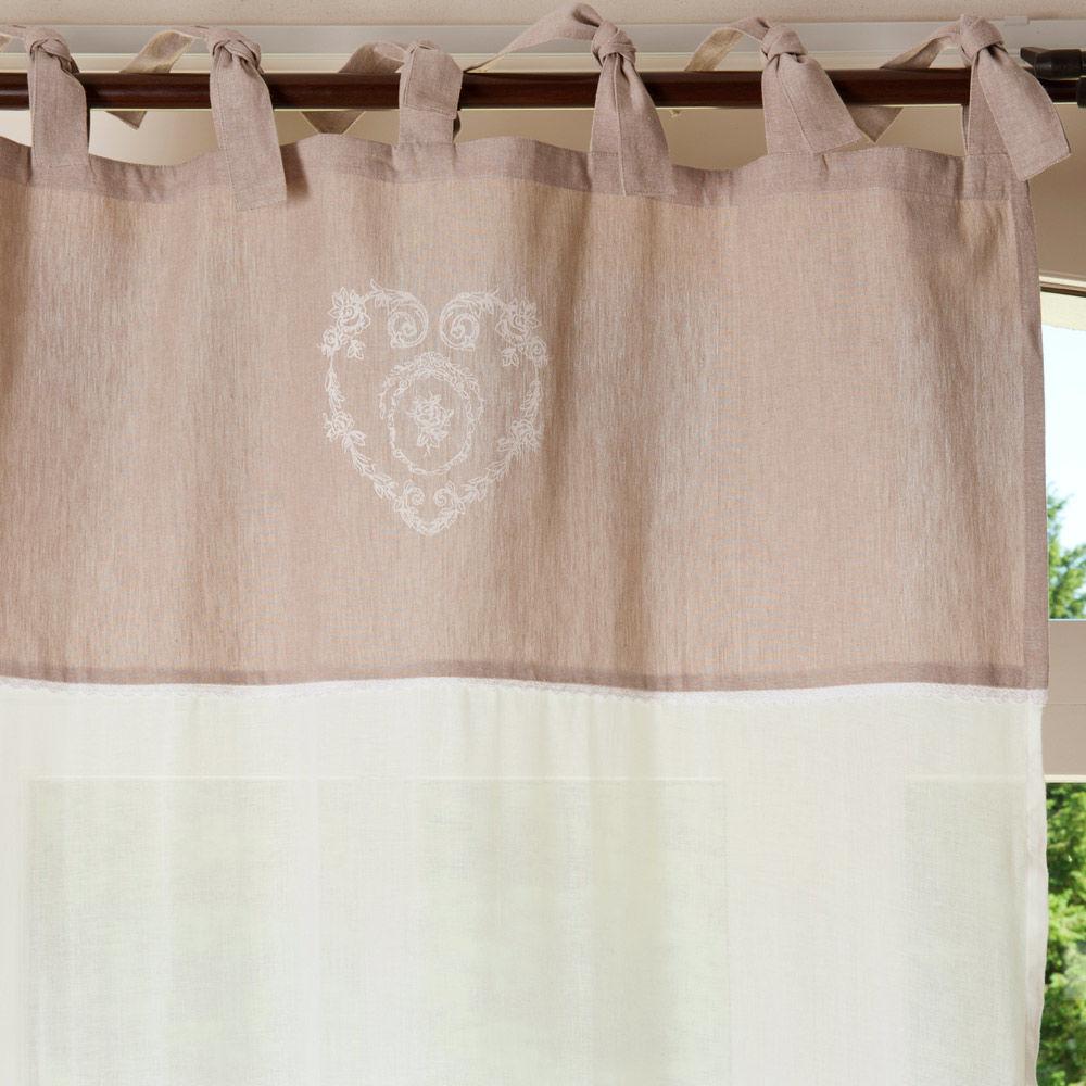 Rideau nouettes en coton beige 105 x 250 cm camille - Rideaux maisons du monde ...