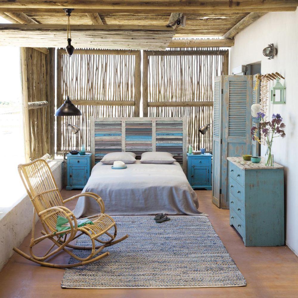 t te de lit en bois recycl l 150 cm bahia maisons du monde. Black Bedroom Furniture Sets. Home Design Ideas