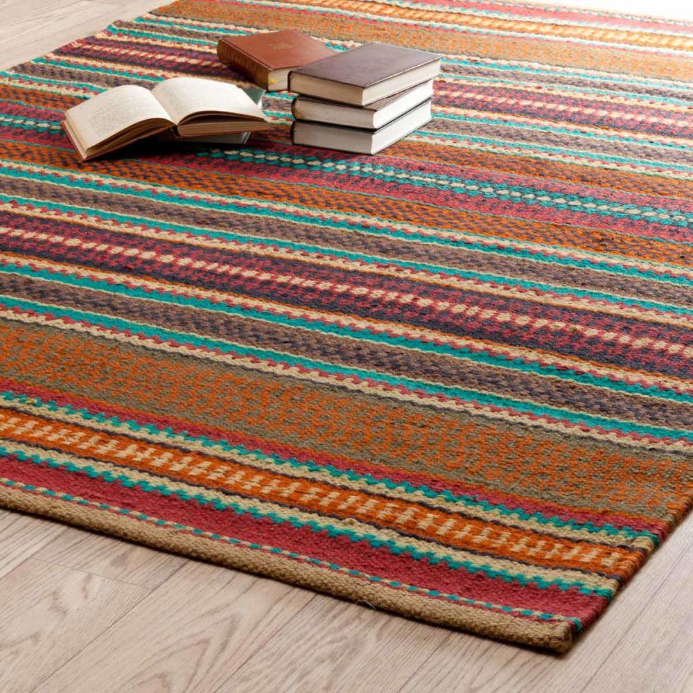 Teppich Bunt Gestreift Zagora 200x140