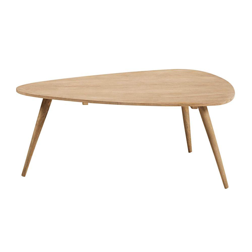 Vintage solid mango wood coffee table 120x85 Trocadero