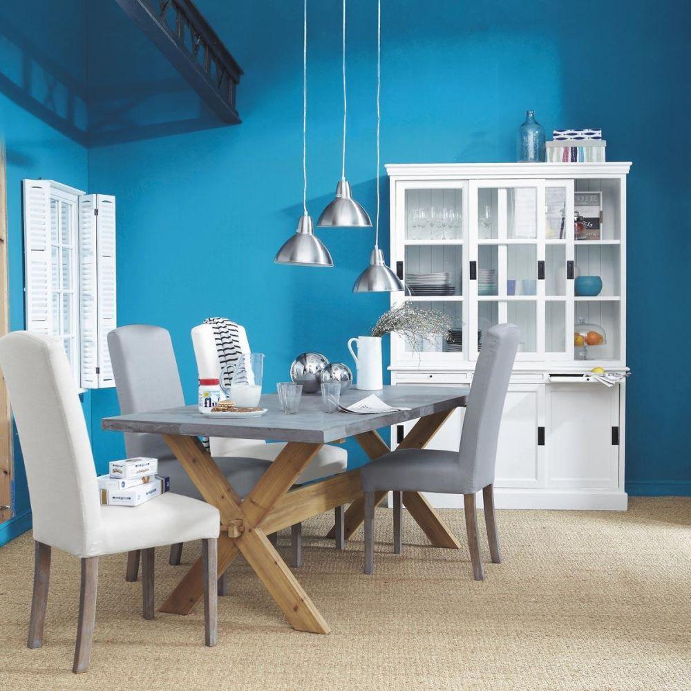 Housse de chaise lin gris clair alice maisons du monde - Housse de chaise maison du monde ...