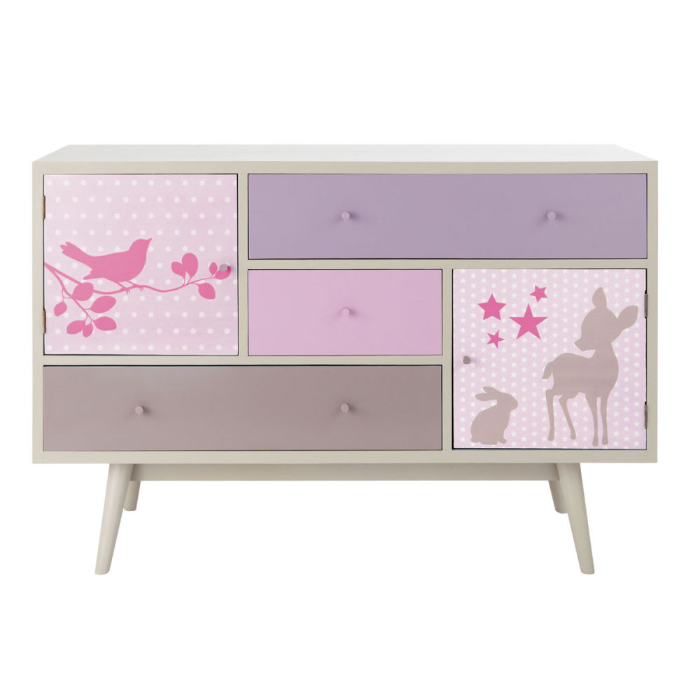 Commode vintage chambre bebe pr l vement d for Commode bebe rose
