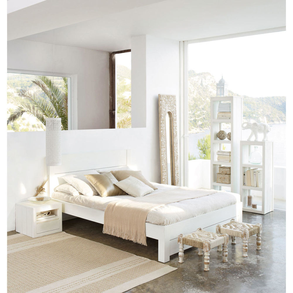 Miroir Bois Blanc : Miroir bois blanc Hoa Maisons du Monde