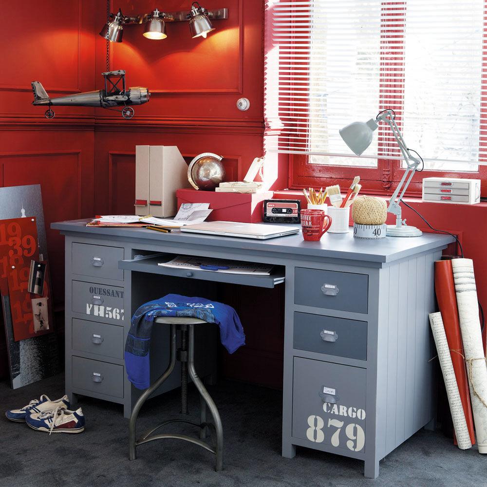 bureau cargo cargo maisons du monde. Black Bedroom Furniture Sets. Home Design Ideas
