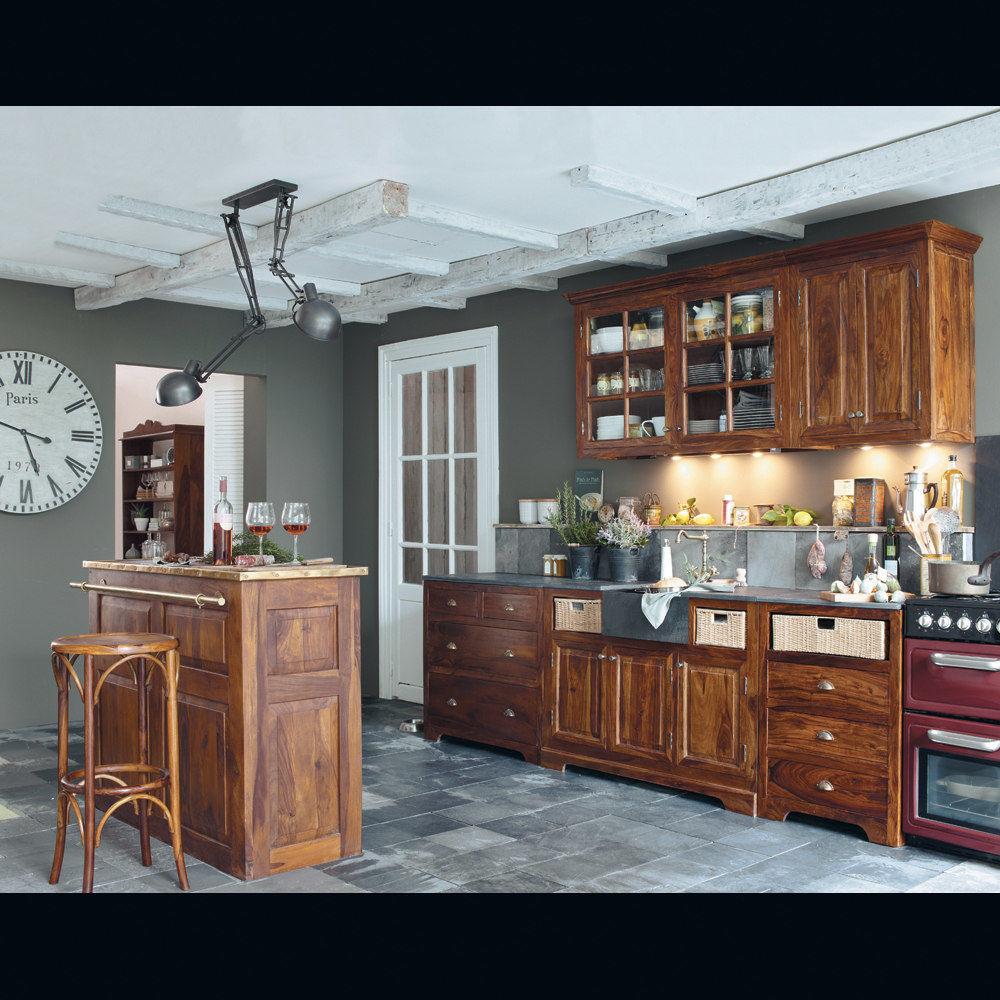Meuble de bar en bois de sheesham massif L 132 cm Lubéron  Maisons du Monde -> Meubles Luberon
