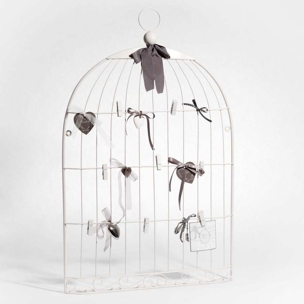 P le m le cage oiseau blanc maisons du monde - Maison du monde cage oiseau ...