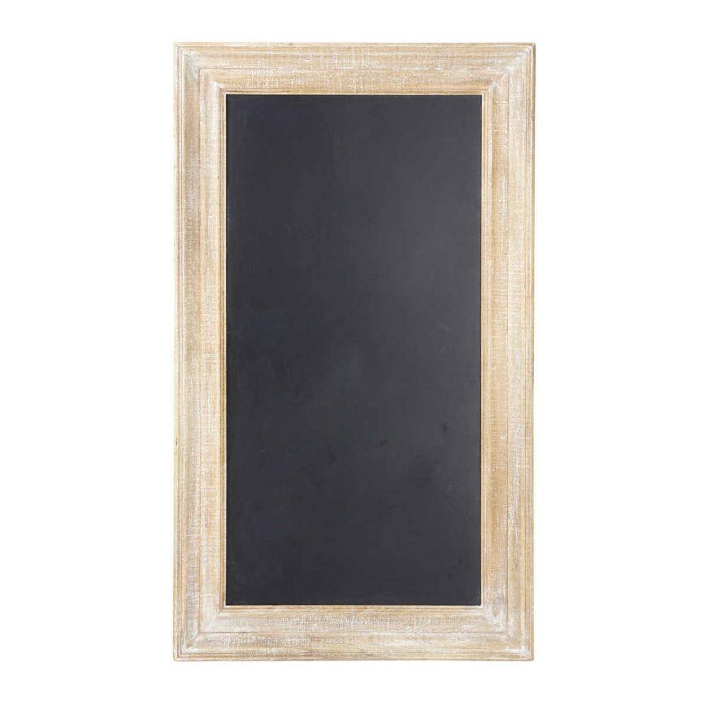 Tableau ardoise noir 81 x 141 cm anjou maisons du monde - Tableau ardoise noir ...