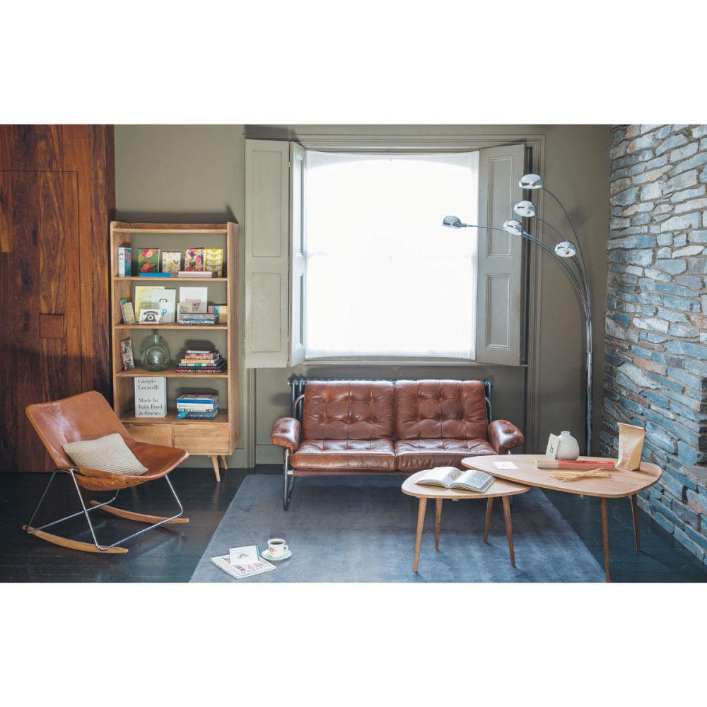 Table basse vintage en manguier massif l 62 cm trocadero maisons du monde - Maison du monde vintage ...