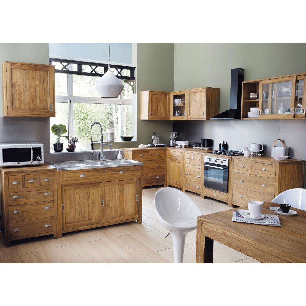Kitchen wall unit 120 amsterdam amsterdam maisons du monde for Cuisine maison du monde