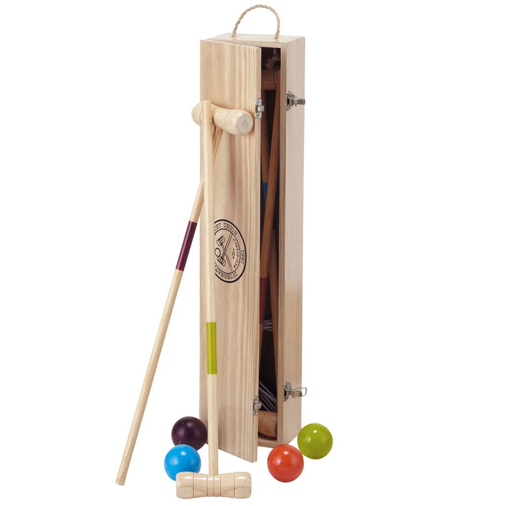 Professionnel en bois jeu de croquet ~ Jeux De Croquet En Bois