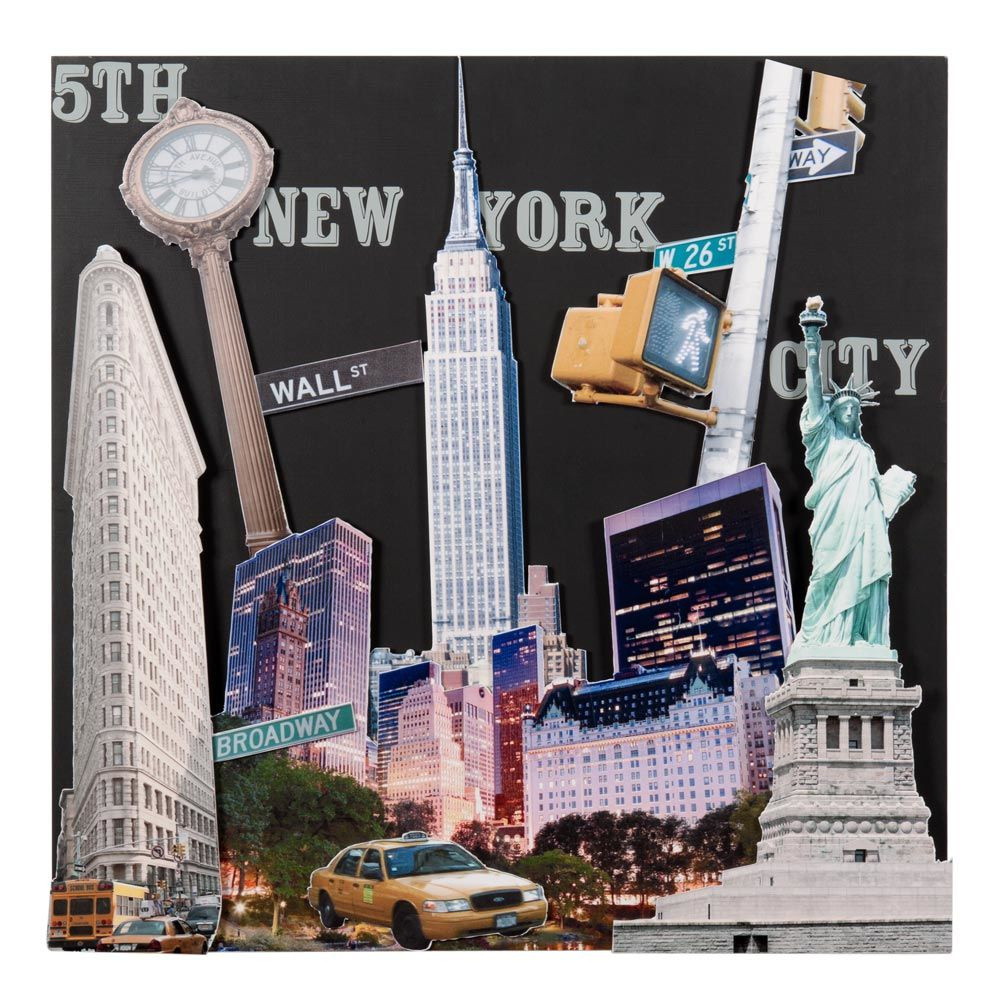 D co murale new york maison du monde for Deco murale new york