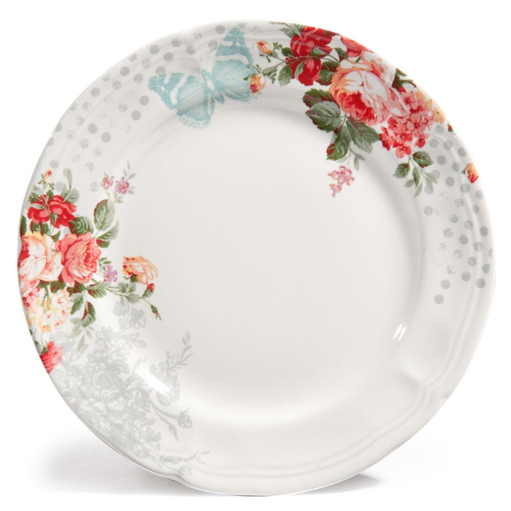 Assiette Plate En Gr S D 28 Cm Pompadour Maisons Du Monde
