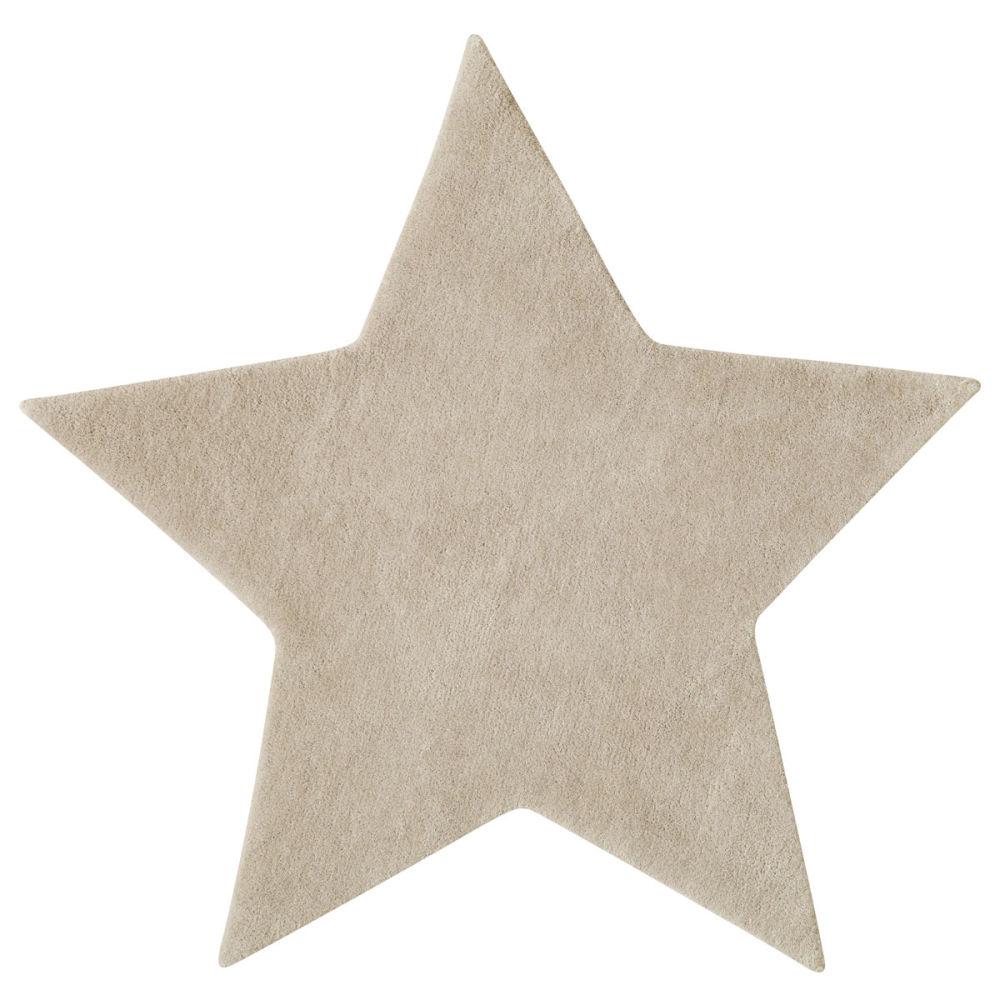 72800 etoile woollen low pile rug in beige l 100cm - Maison Du Monde Ballerina