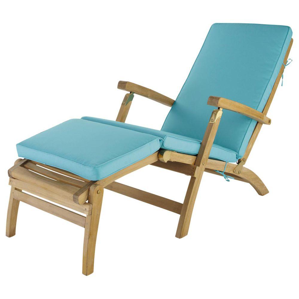 Matelas chaise longue turquoise ol ron maisons du monde - Coussin de chaise longue pas cher ...