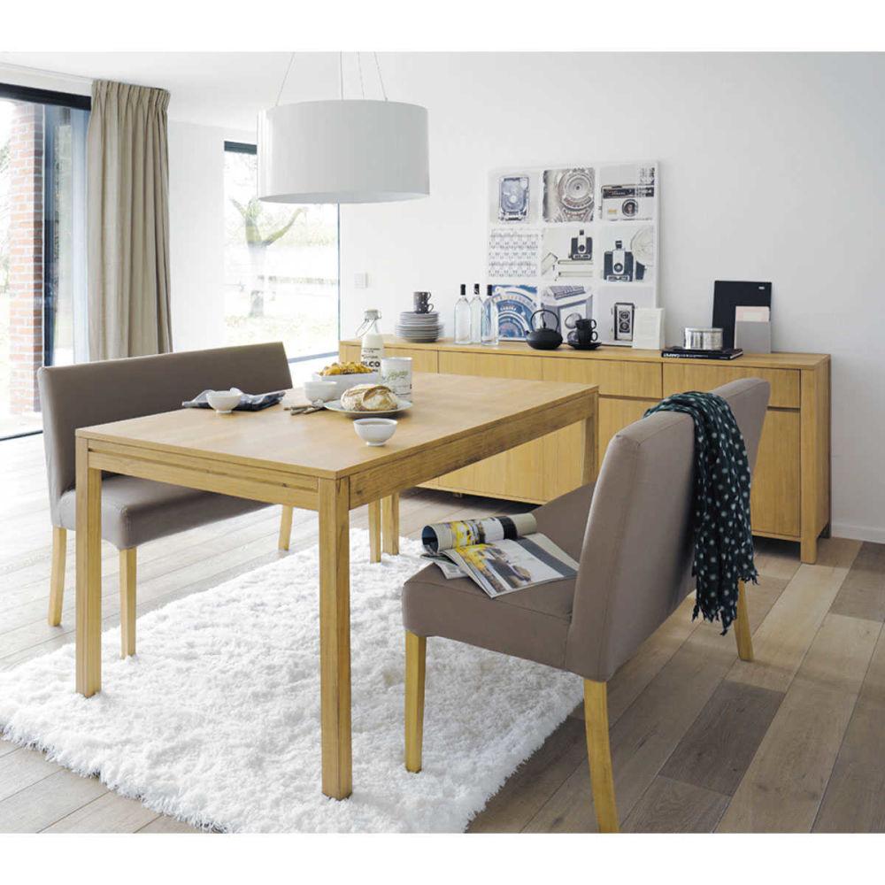 banquette de table coton taupe lounge maisons du monde. Black Bedroom Furniture Sets. Home Design Ideas