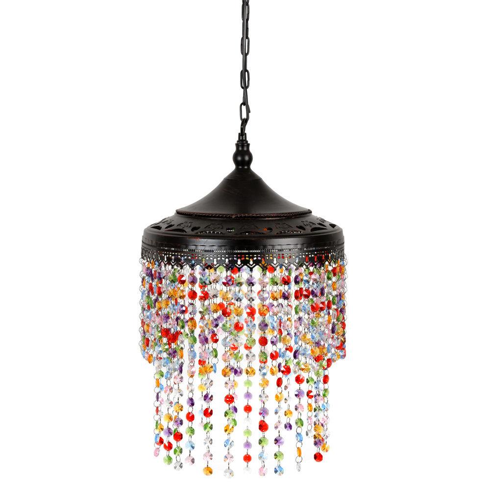 Lustre en plastique acrylique d 23 cm confetti maisons du monde for Suspension luminaire maison du monde