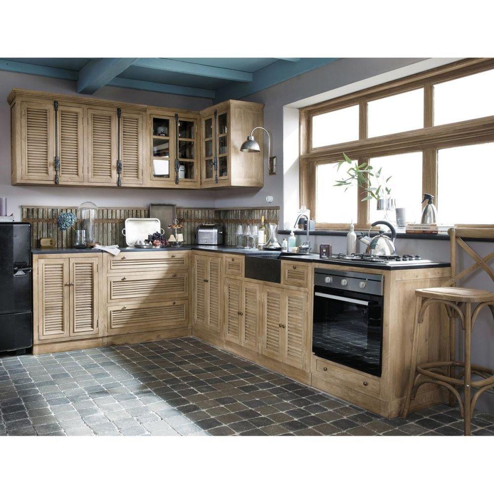 Cuisine l ment bas 60 persiennes maisons du monde - Maison du monde meuble cuisine ...