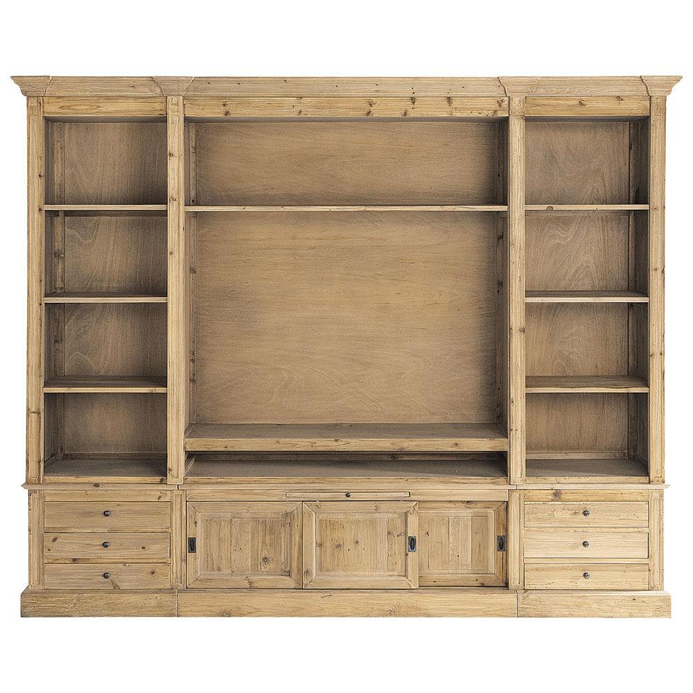Favori Bibliothèque meuble TV en pin massif recyclé Passy | Maisons du Monde AV62