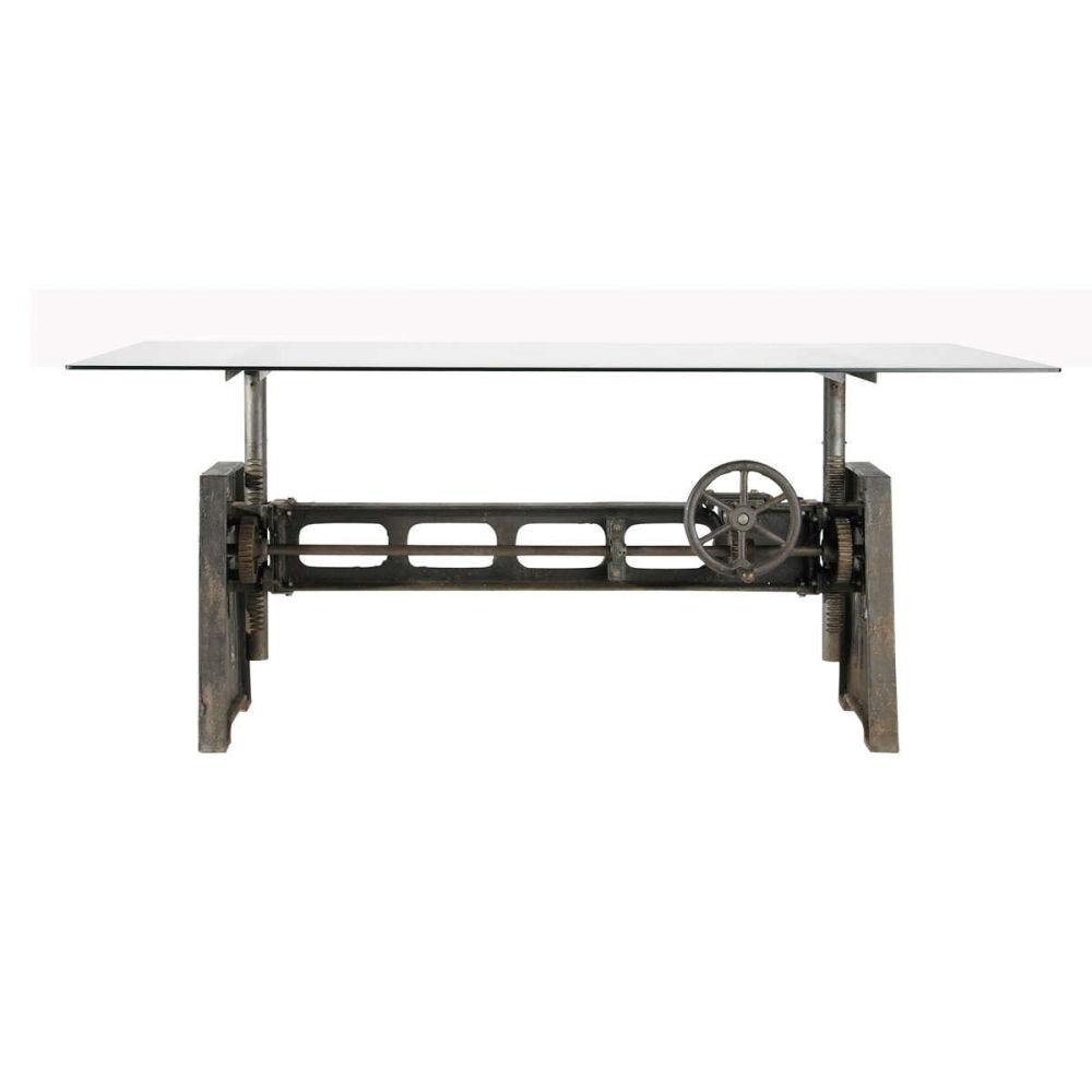 perfect table manger en verre et mtal personnes l. Black Bedroom Furniture Sets. Home Design Ideas