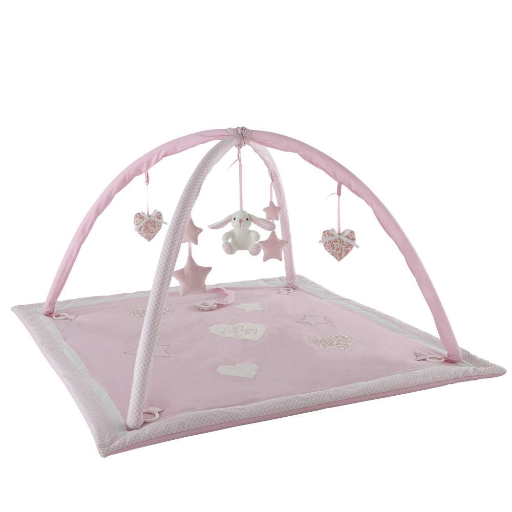 Awesome tapis duveil bb en coton rose x cm victorine - Maison du monde nantes ...