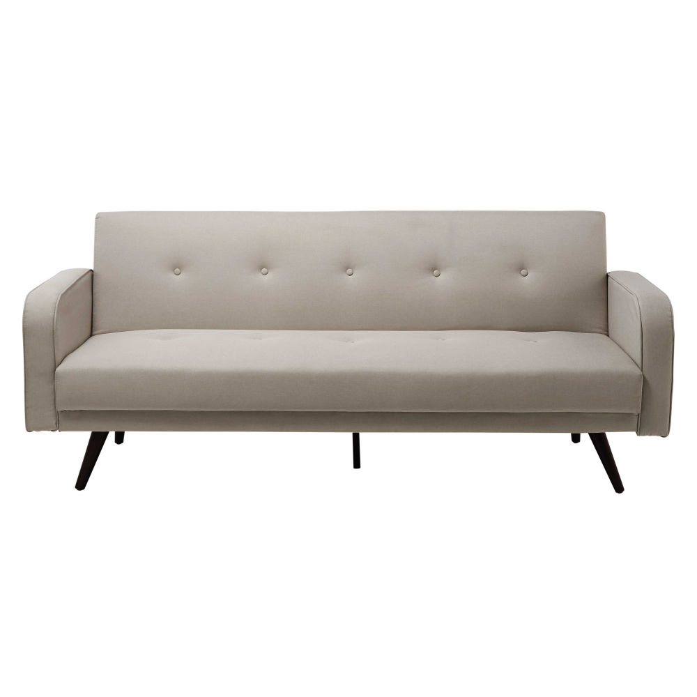 Mottled beige 3-seater clic clac sofa bed Broadway | Maisons du Monde
