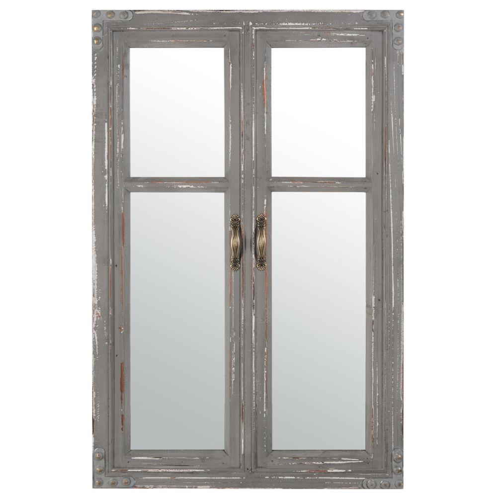 Miroir fen tre gris edimbourg maisons du monde for Fenetre miroir