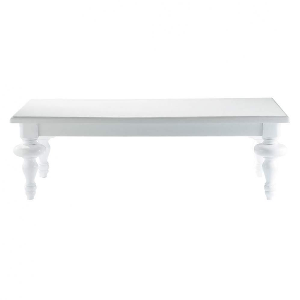 Table basse blanche barocco maisons du monde for Table basse baroque pas cher