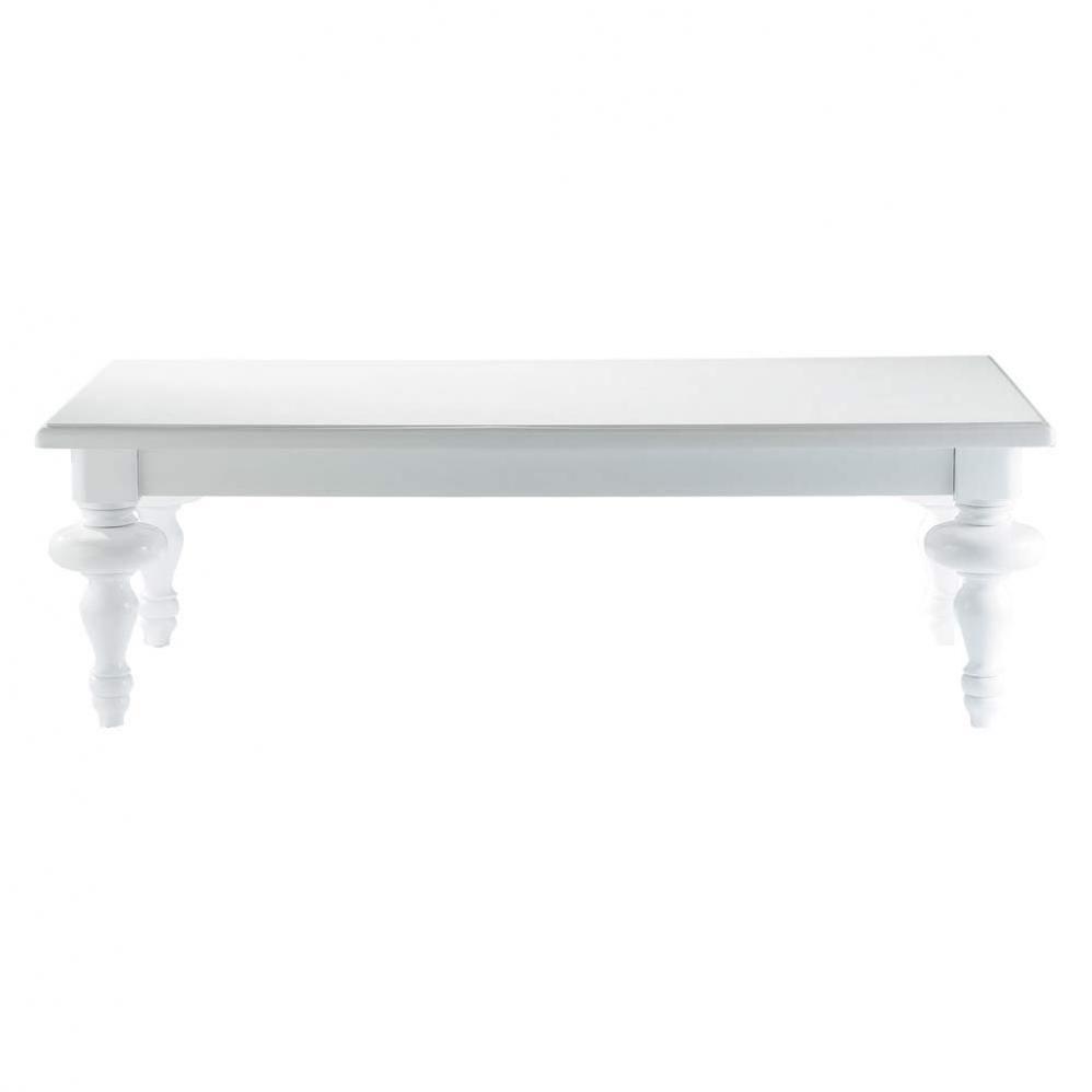 Table basse blanche barocco maisons du monde - Table basse baroque blanche ...