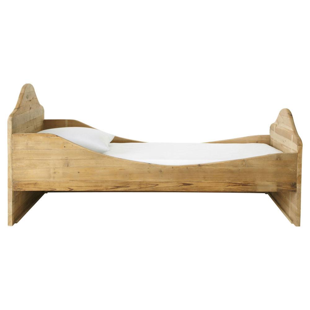 lit enfant bois recycl noisette maisons du monde. Black Bedroom Furniture Sets. Home Design Ideas