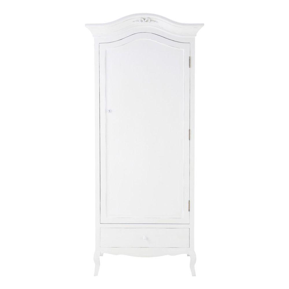 Armoire en bois blanche L 90 cm Charlotte | Maisons du Monde