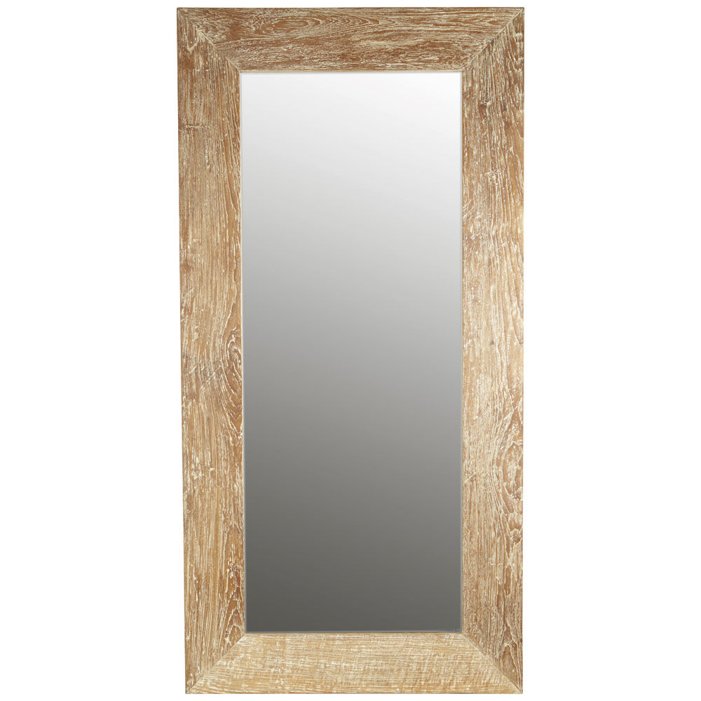 Miroir bois flotte maison du monde for Miroir industriel maison du monde